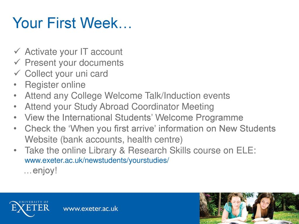 Welcome to University of Exeter! - ppt download