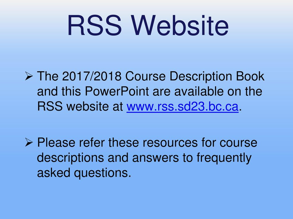 Grade 9 to 10 Course Selection - ppt download