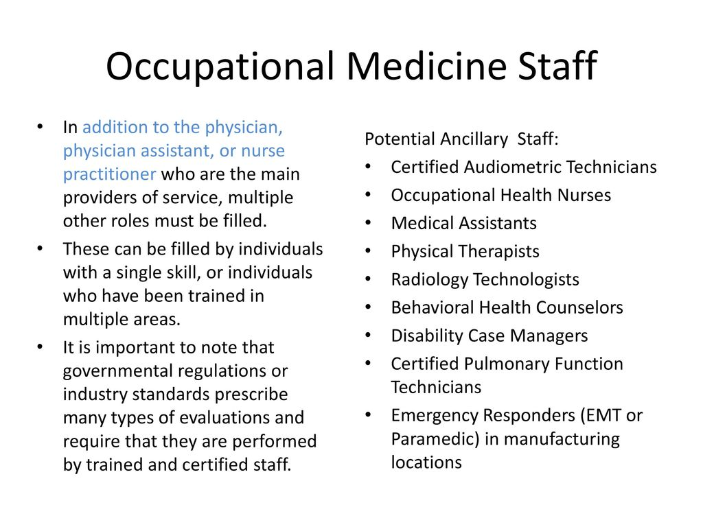 Occupational Health And Occupational Medicine Ppt Download
