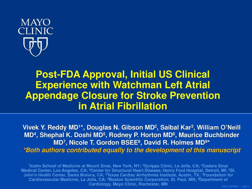 David R  Holmes, Jr , M D  Mayo Clinic, Rochester, MN - ppt download