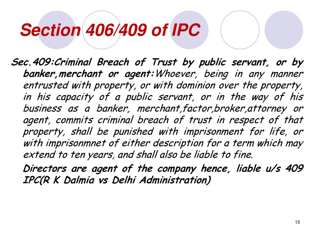 what is section 406 of ipc