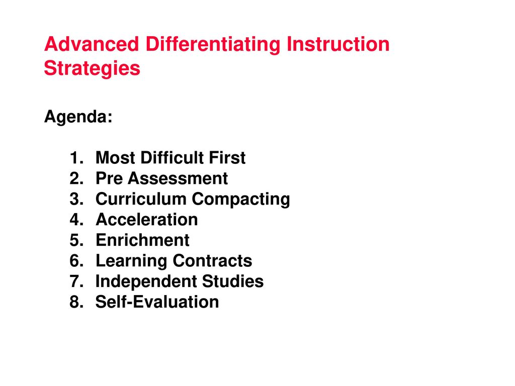 Advanced Differentiating Instruction Strategies Ppt Download