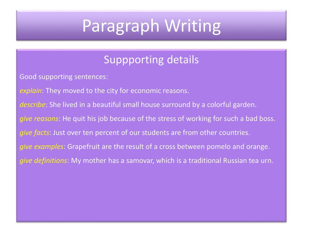 A basic paragraph contains three parts: - ppt download