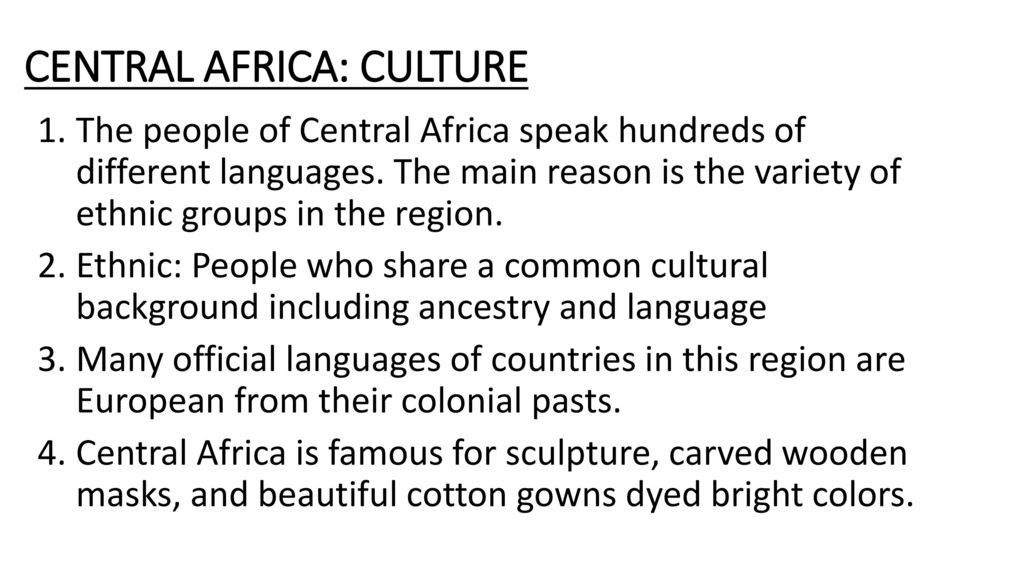 AFRICA  - ppt download