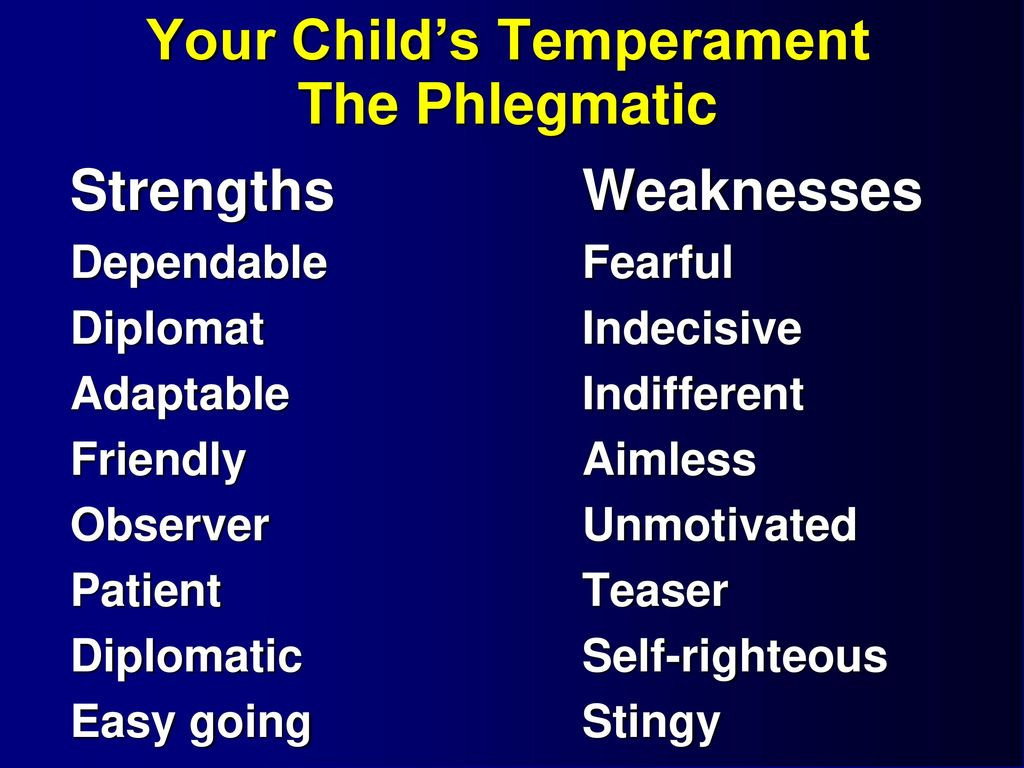 Who is the phlegmatic