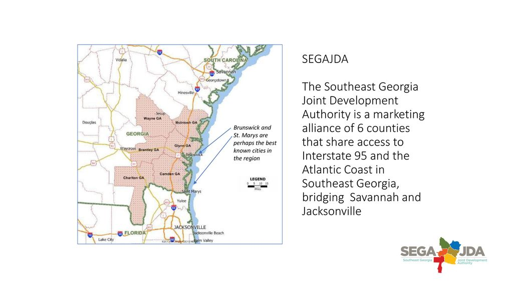 Map Of Georgia 95.Segajda The Southeast Georgia Joint Development Authority Is A