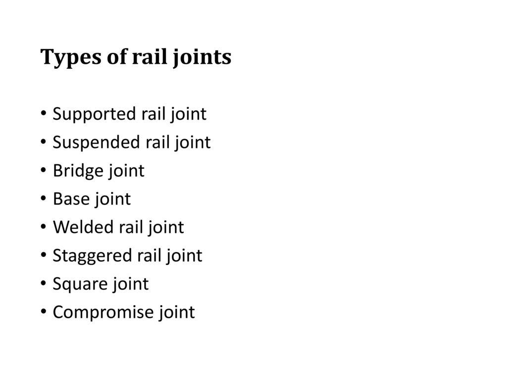 Bridge Joint In Rail