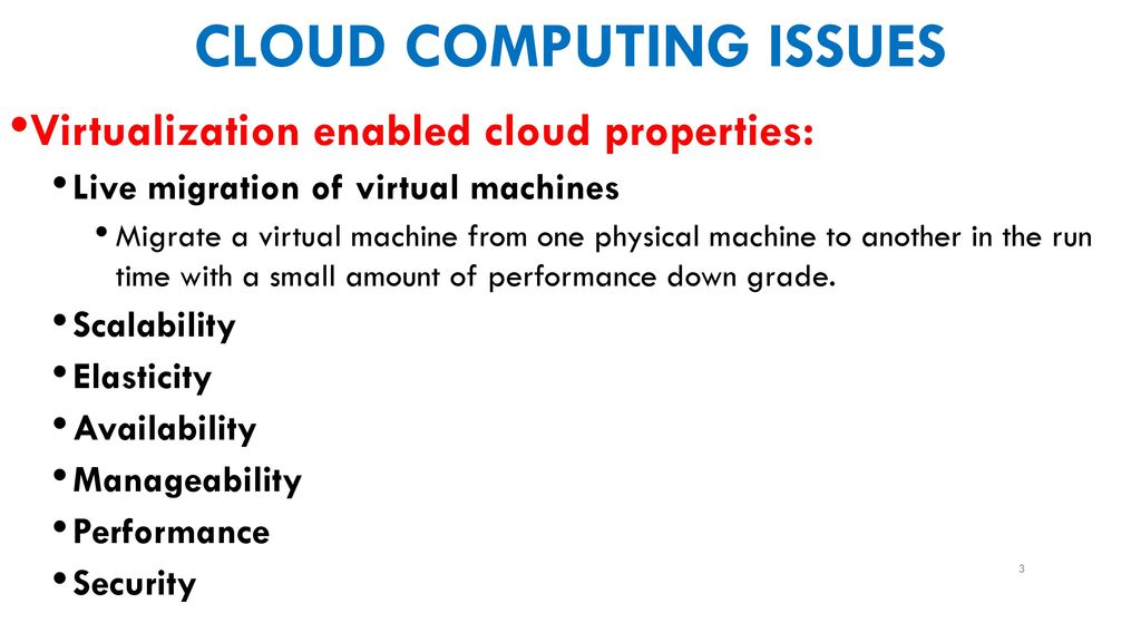 Cloud computing issues - ppt download
