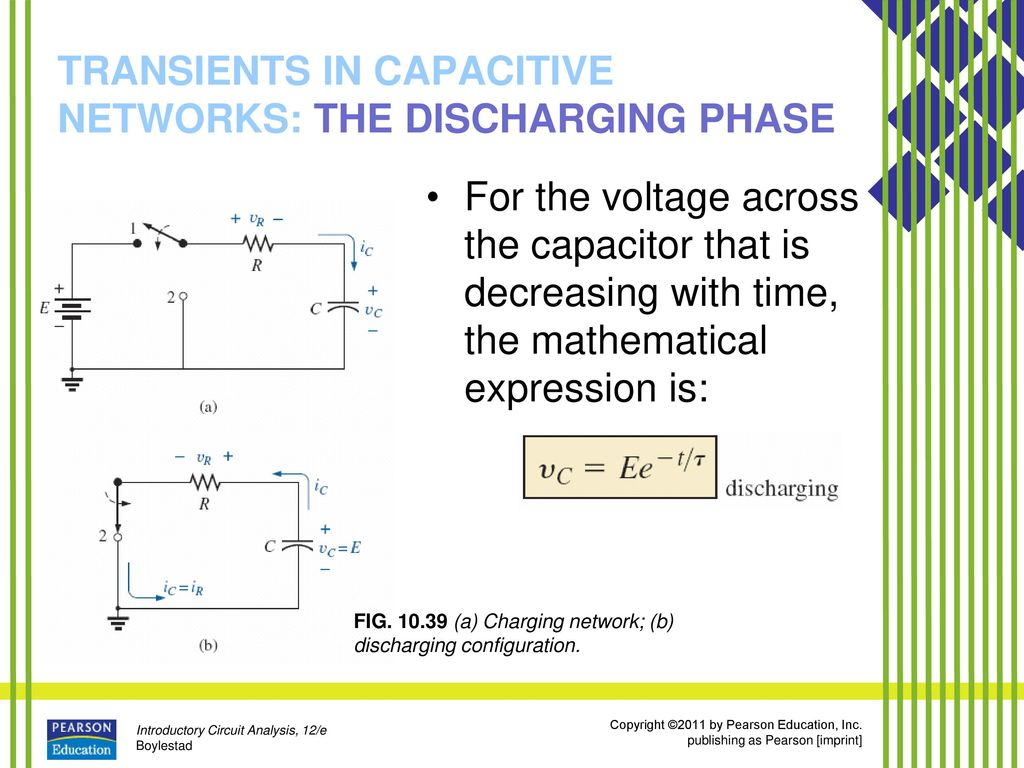 Capacitors Ppt Download Capacitance Charging And Discharging Of A Capacitor Transients In Capacitive Networks The Phase
