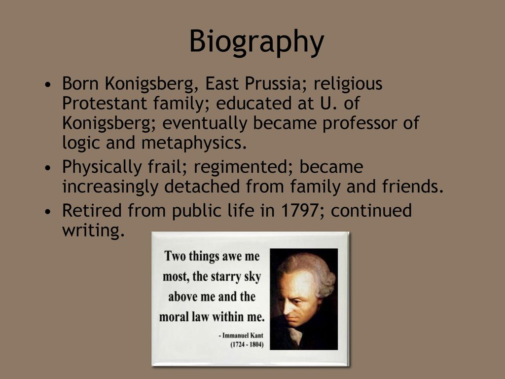 immanuel kant personality