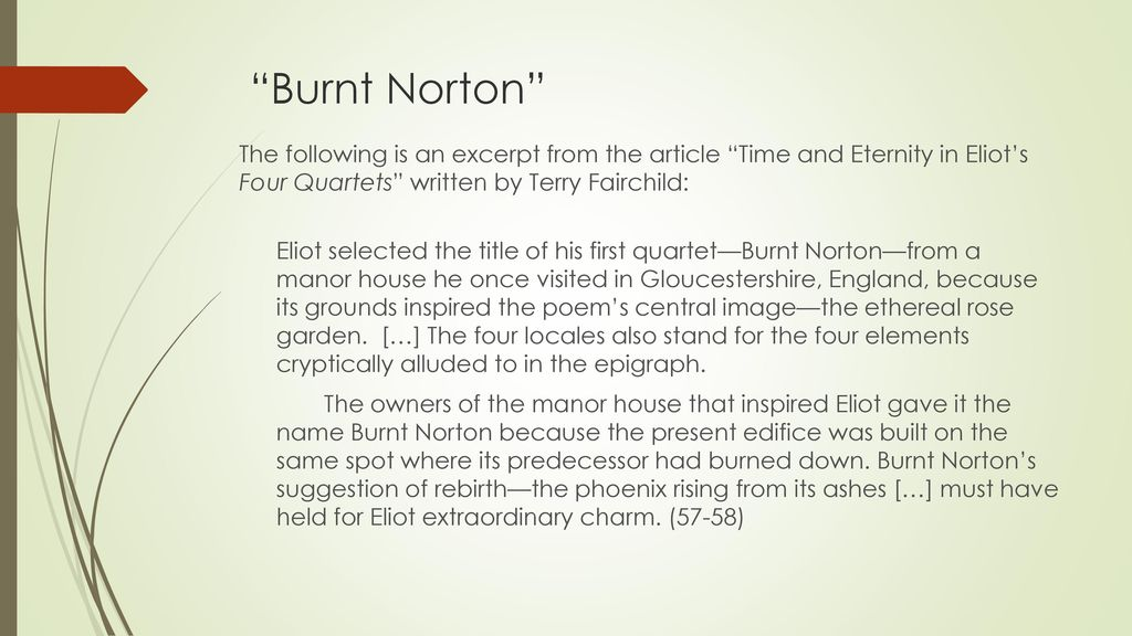 burnt norton analysis