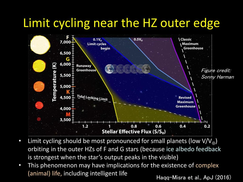 Limit cycling near the HZ outer edge