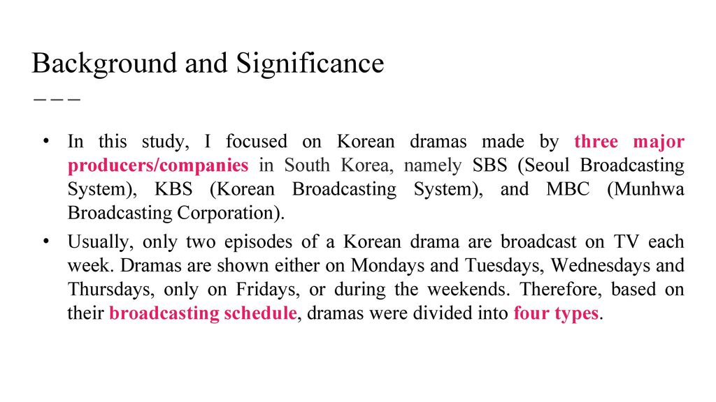 The Effect of the Producer and Schedule of a Korean Drama on