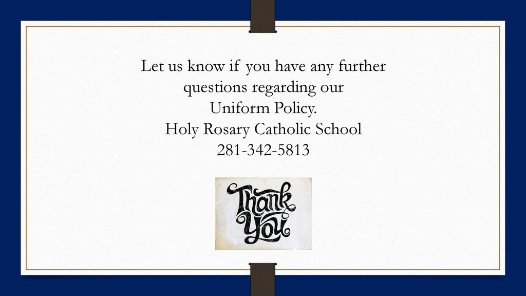 Holy Rosary Catholic School - ppt download