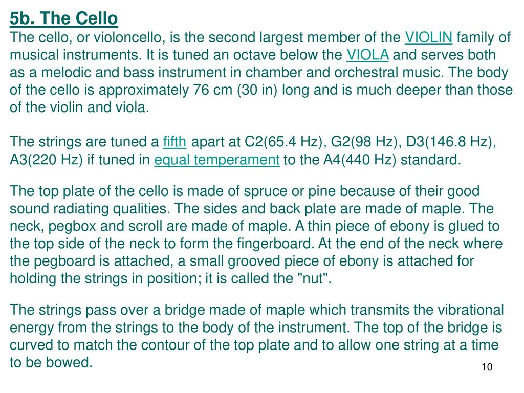 String Instruments General comments - ppt download