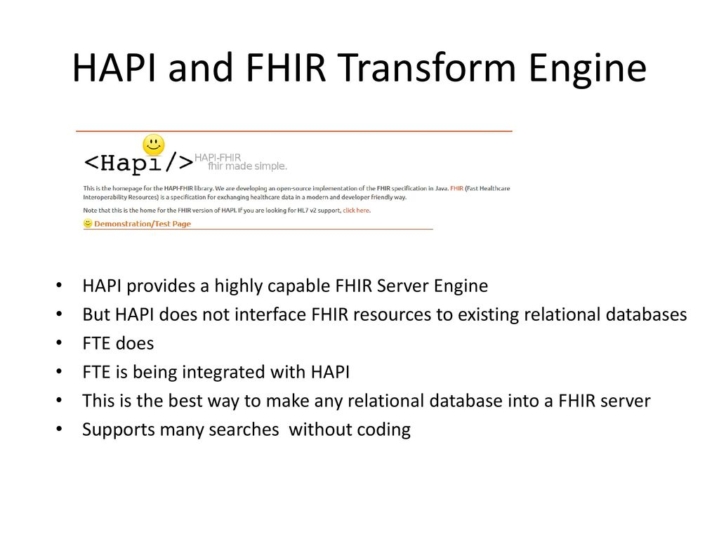 FHIR and Relational Databases - ppt download
