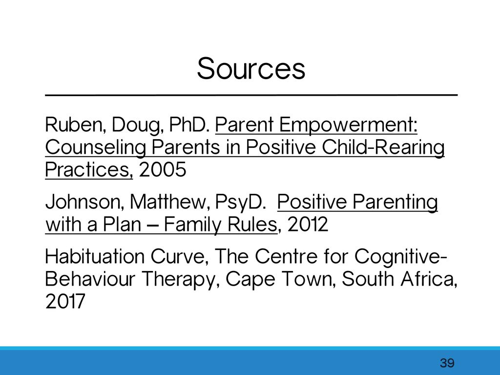 Parent Empowerment: Counseling Parents in Positive Child-