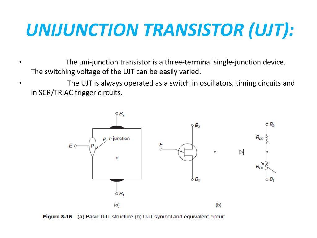 Unit Ii Zener Diode Breakdown Mechanisms Applications Led Lcd Triacswitchbb 50 Unijunction Transistor