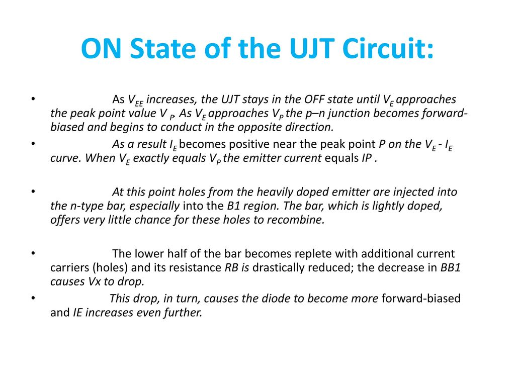 Unit Ii Zener Diode Breakdown Mechanisms Applications Led Lcd Circuit In Addition Light Emitting Further Rectifier On State Of The Ujt