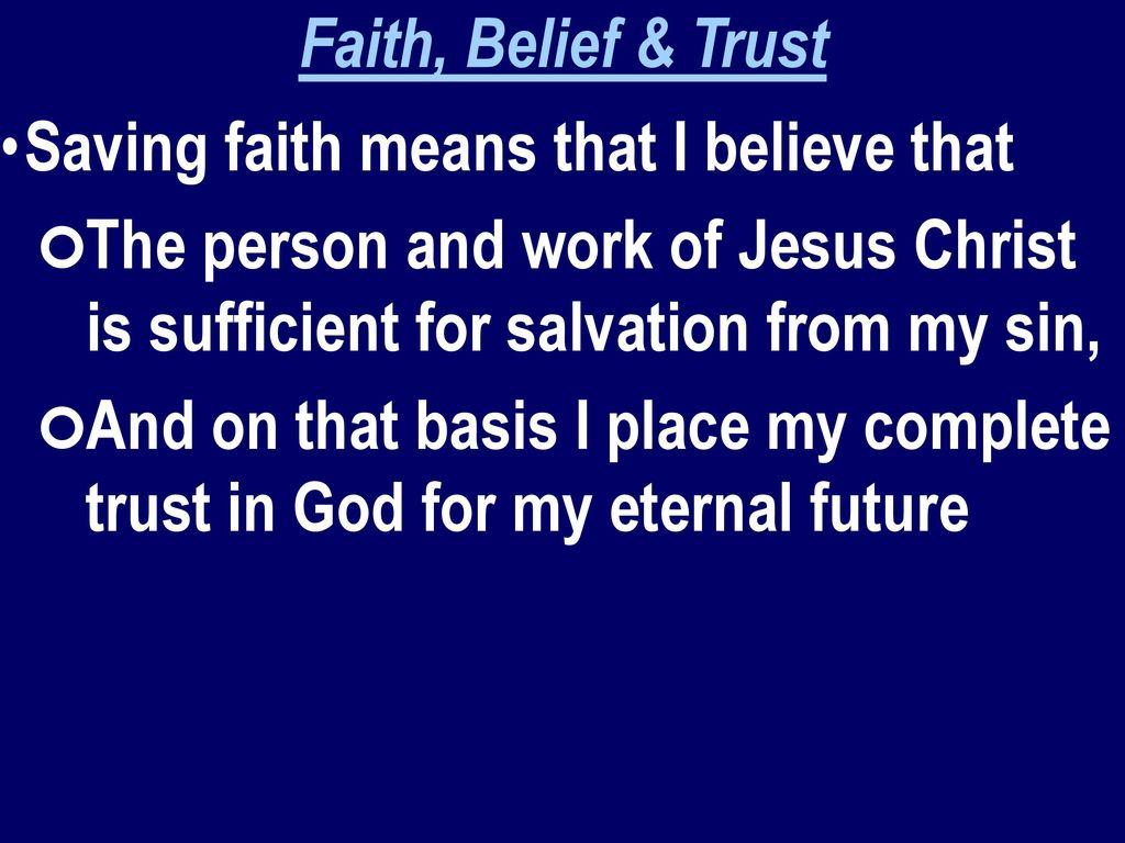 faith means trust trust - HD1024×768