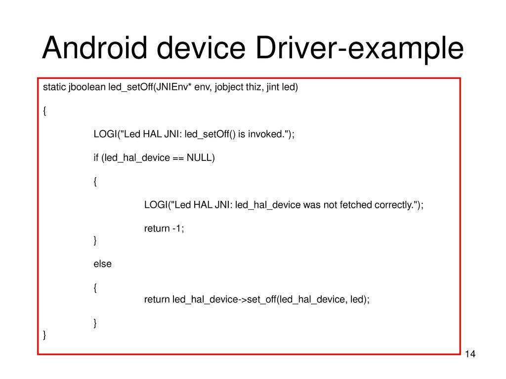 Chapter 7-Android HAL 中国科学技术大学软件学院  - ppt download