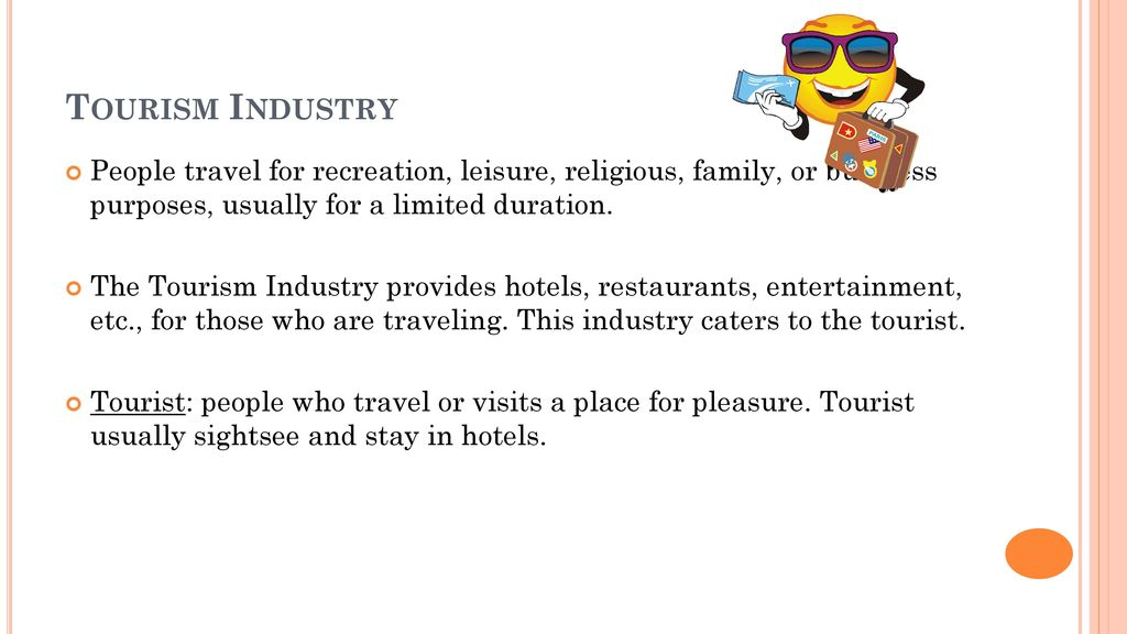 Tourism Industry People Travel For Recreation Leisure Religious