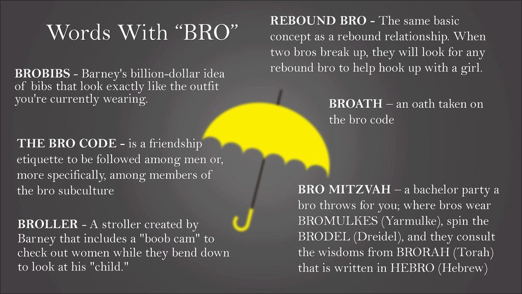 bro code hook up