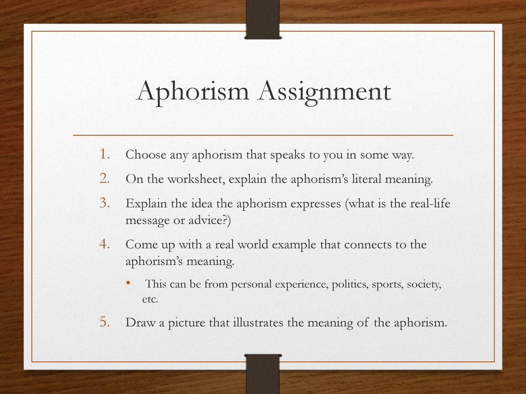 aphorism meaning