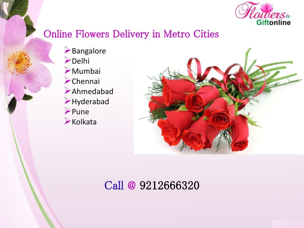 Online flowers gifts delivery in india ppt download online flowers delivery in metro cities izmirmasajfo