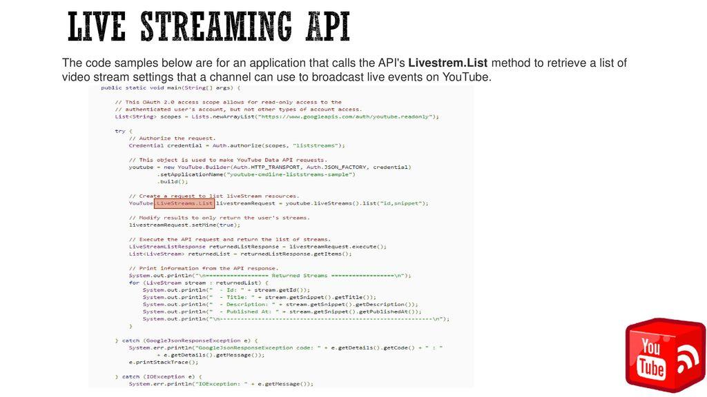 Video API and Coding Graduate Seminar Dr  Jinan Fiaidhi