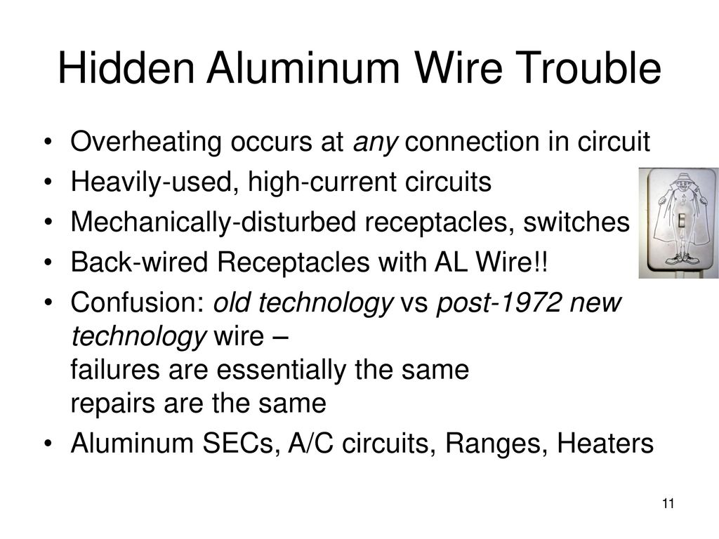 Residential Aluminum Wiring For Electricians Ppt Download Cpsc Hidden Wire Trouble