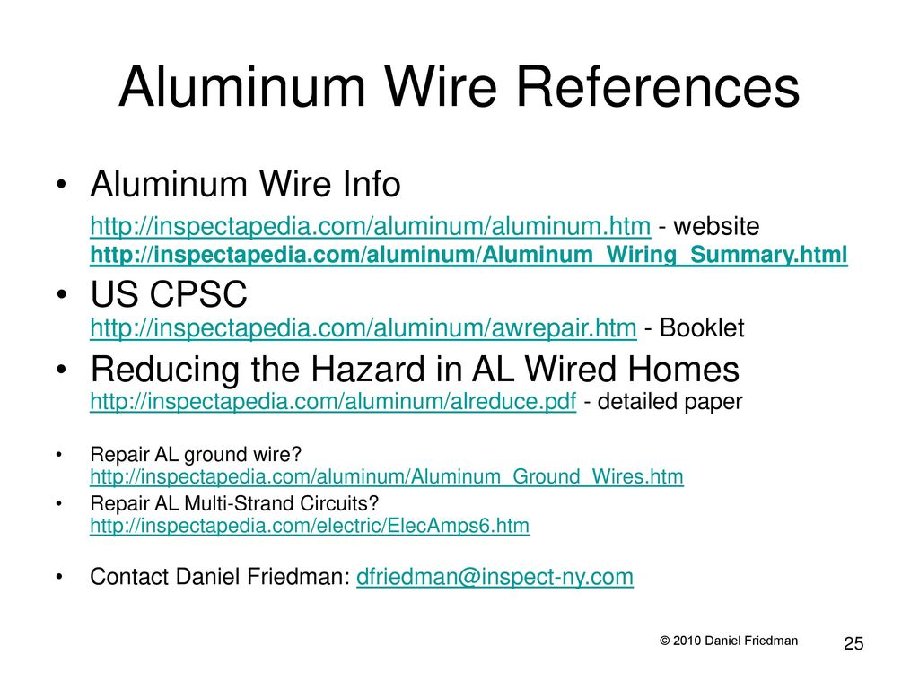 Residential Aluminum Wiring For Electricians - ppt download