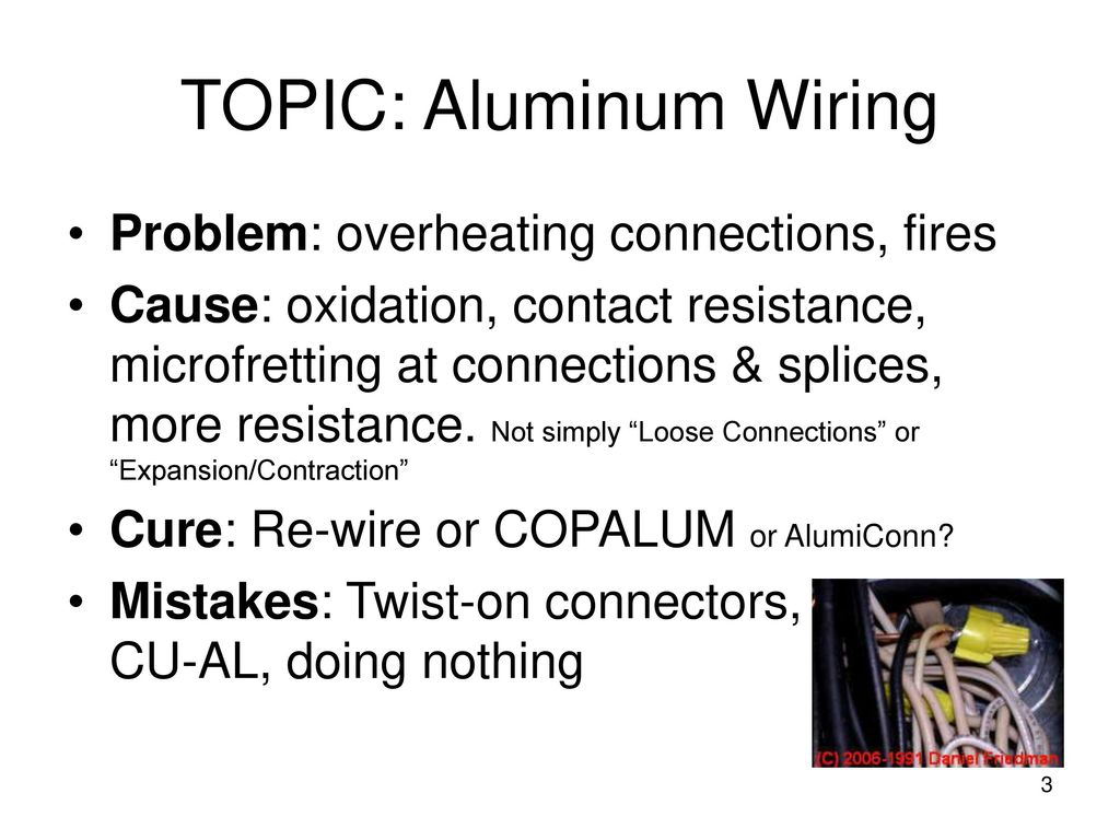 Residential Aluminum Wiring For Electricians Ppt Download In Homes California Topic