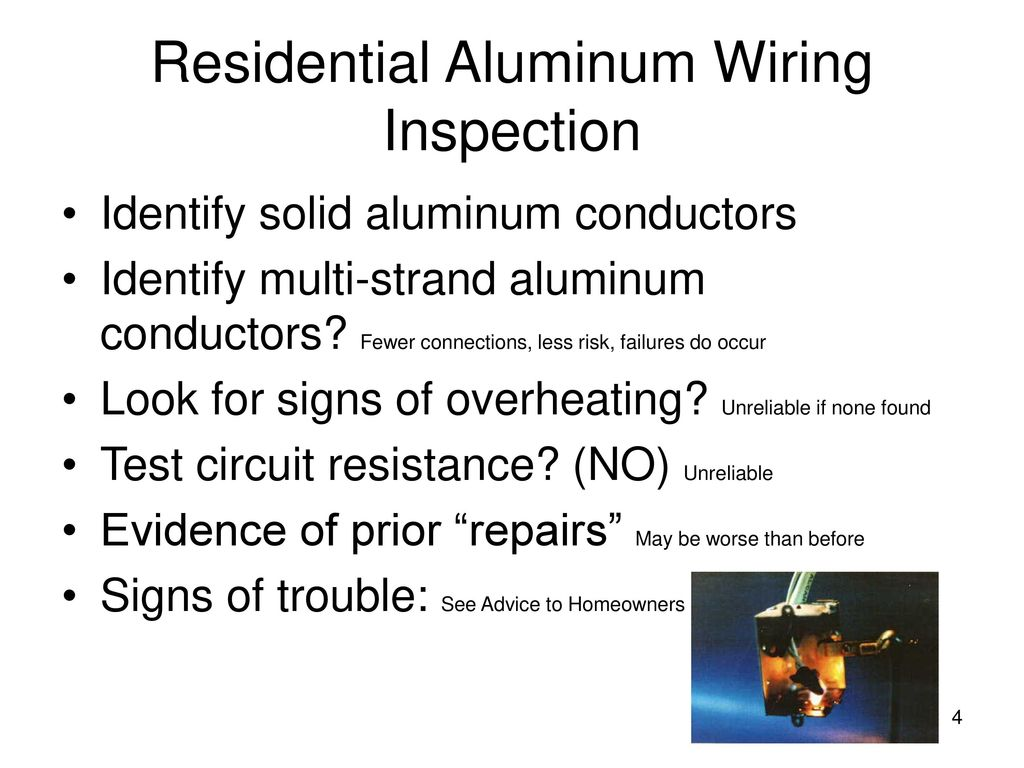 Residential Aluminum Wiring For Electricians Ppt Download Cpsc Inspection