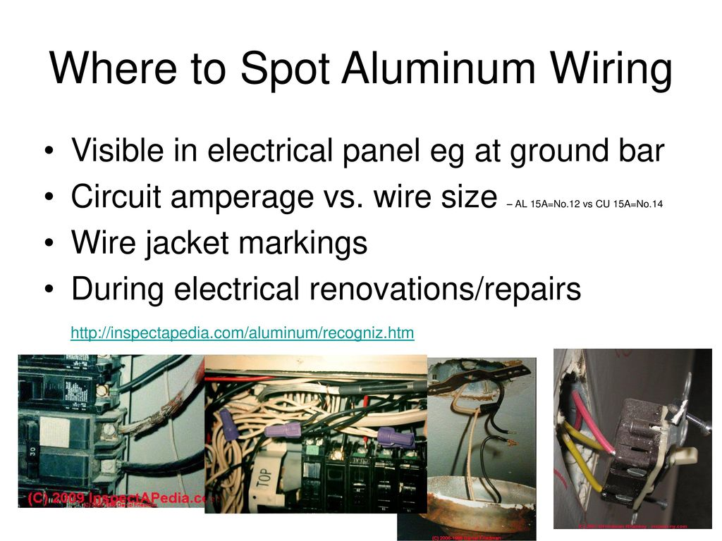 Fantastic Residential Aluminum Wiring For Electricians Ppt Download Wiring Cloud Nuvitbieswglorg