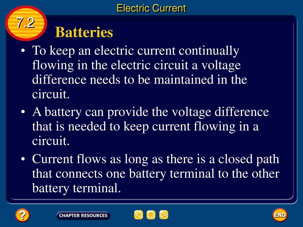 7 Ppt Download Battery In Place Notice The Small Current That Flows Circuit Electric 72 Batteries