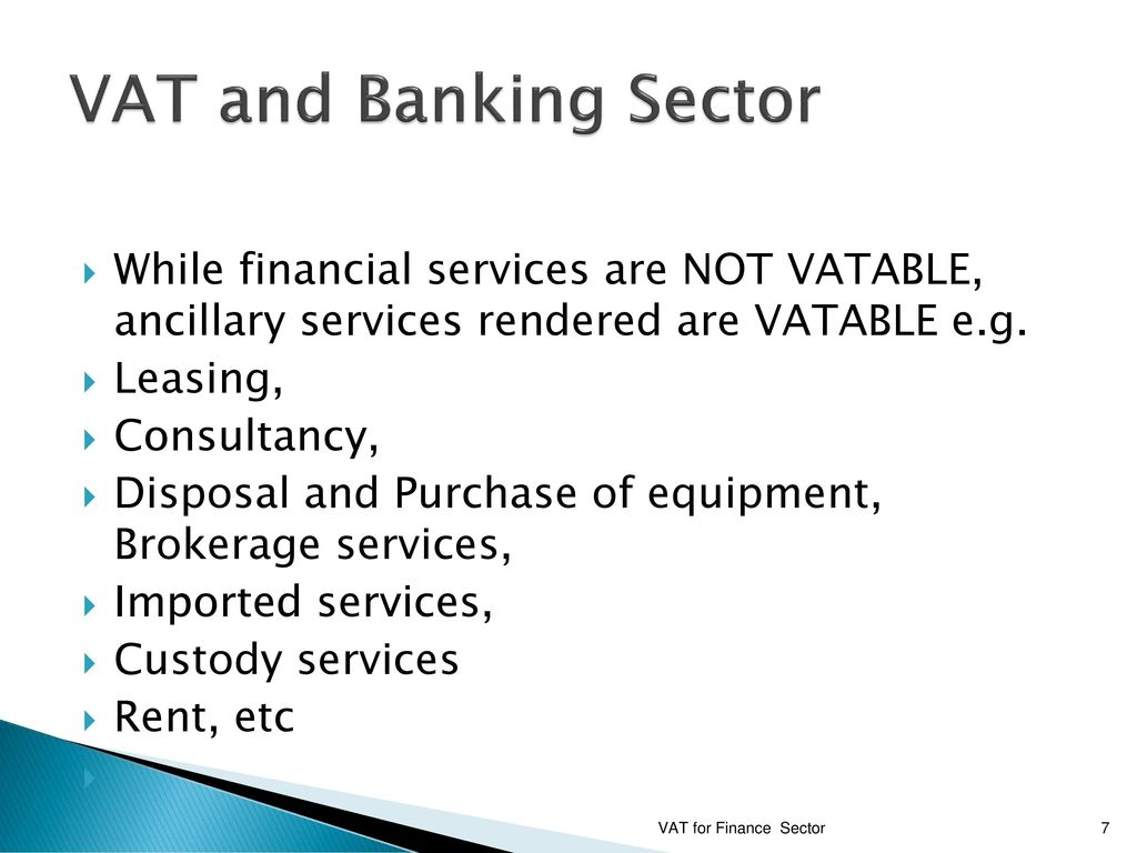 ancillary services in banking
