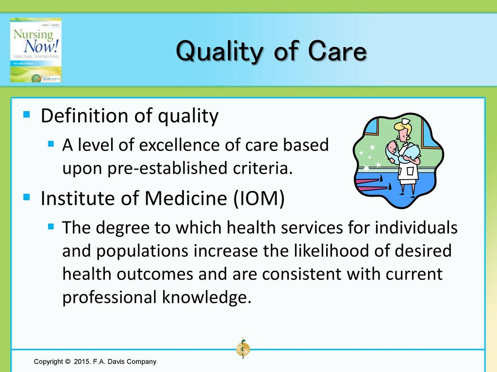Chapter 15 Ensuring Quality Care - ppt download