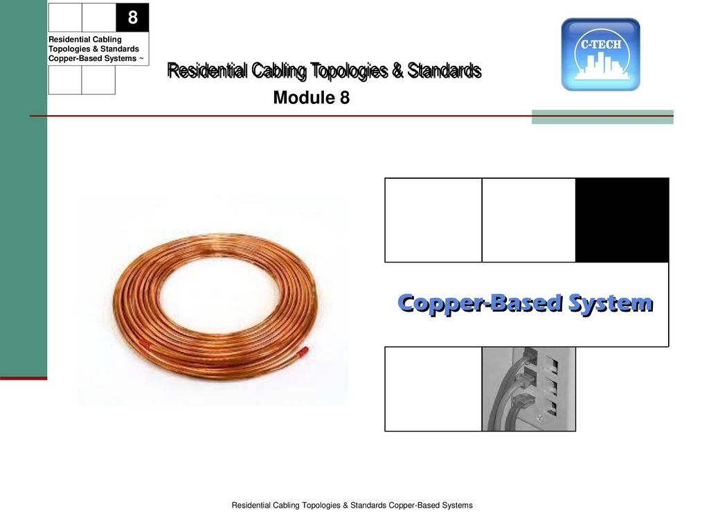 Copper-Based System Residential Cabling Topologies & Standards 8 ...