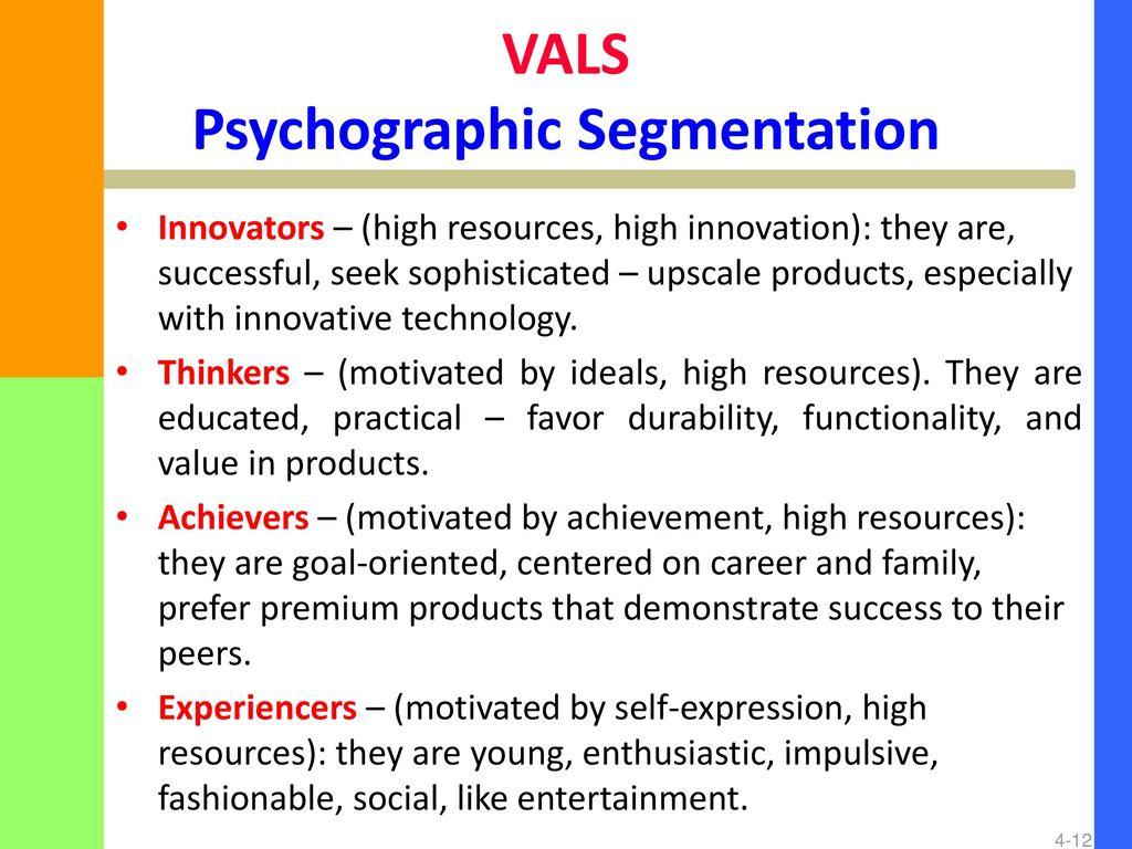 vals survey experiencer