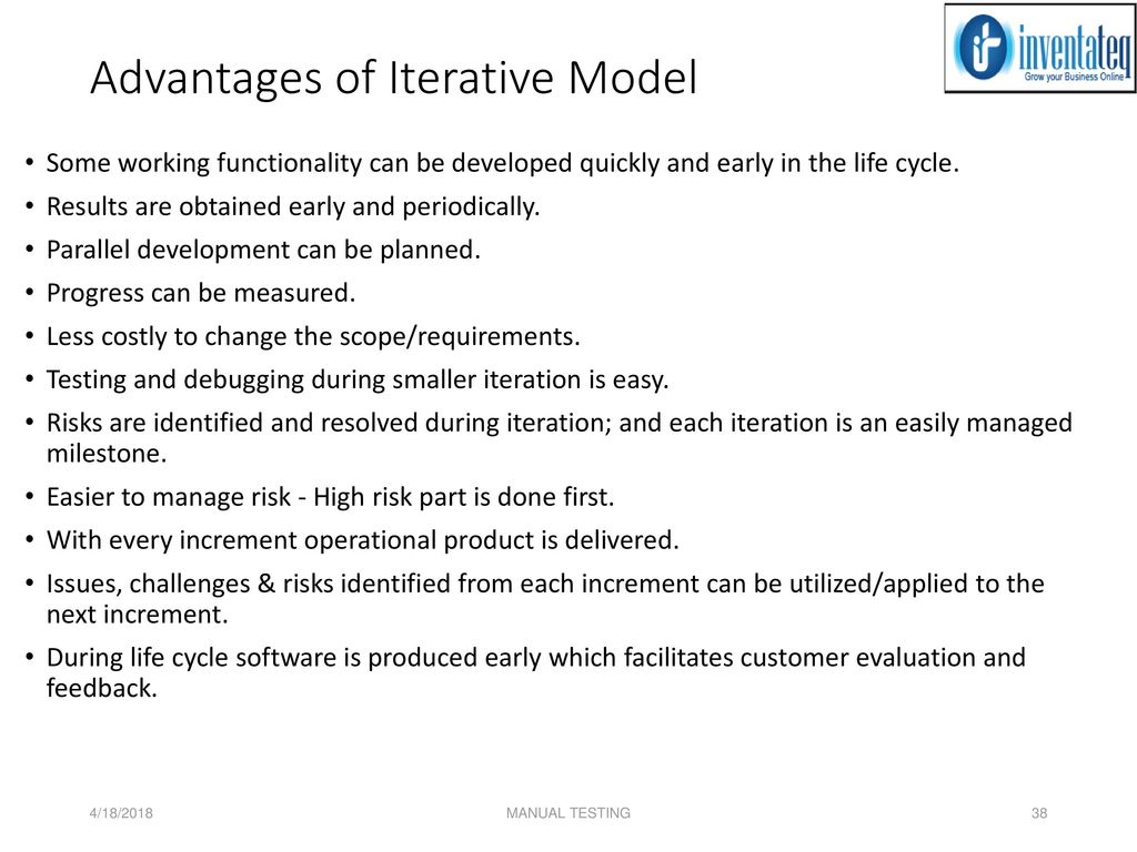 advantages of waterfall model information technology essay Advantages of waterfall model: this model is simple and easy to understand and use waterfall model works well for smaller projects where requirements are very well understood technology is understood there are no ambiguous requirements ample resources with required expertise are.