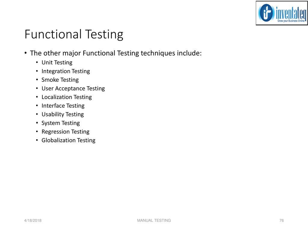 MANUAL TESTING 4/18/2018 MANUAL TESTING. - ppt download