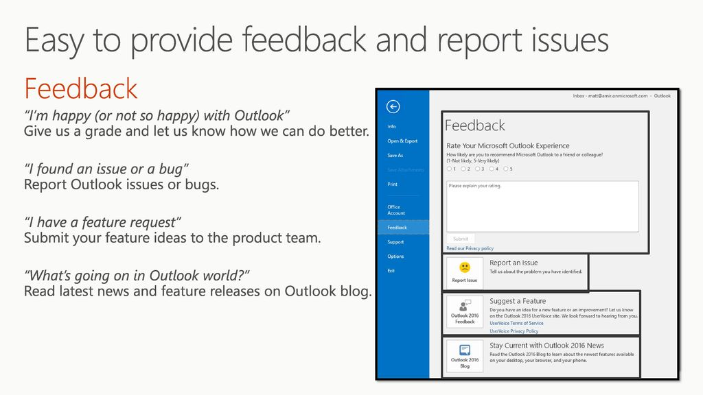Discover modern support in Outlook for Exchange Online - ppt download