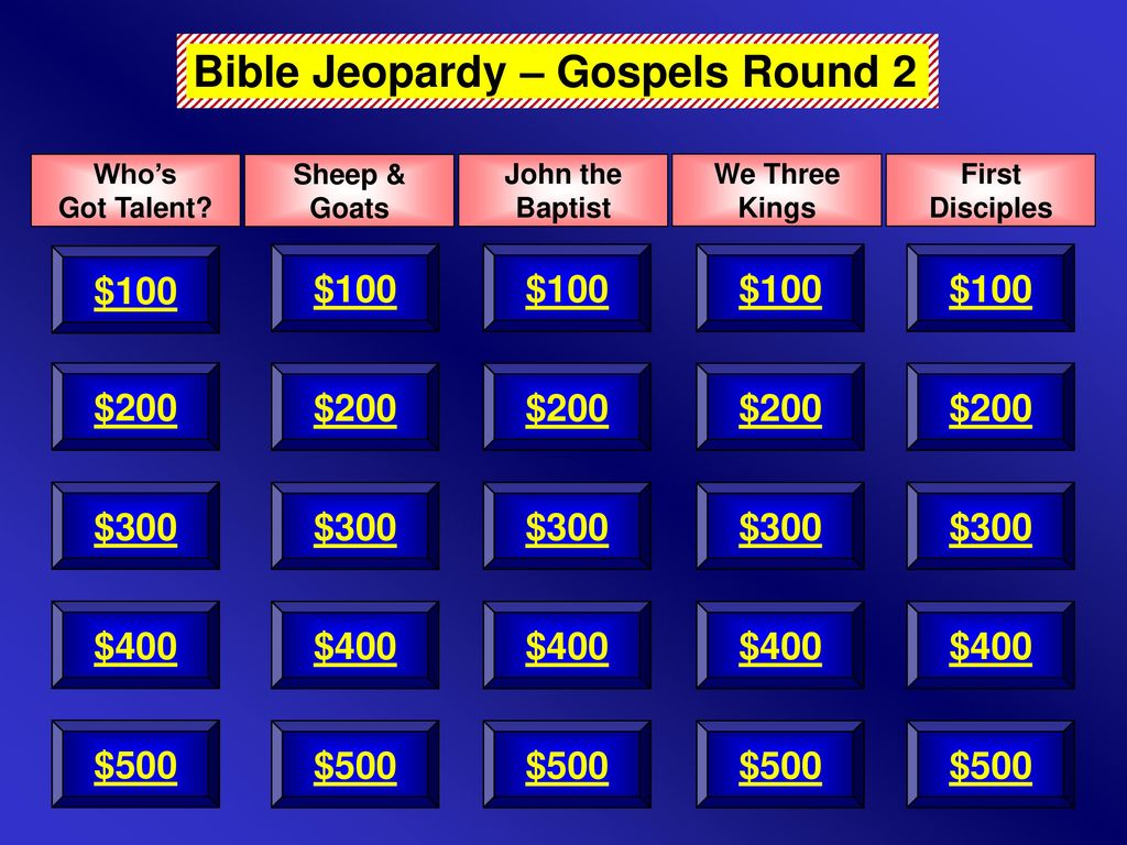 Bible Jeopardy – Gospels Round 2 - ppt download