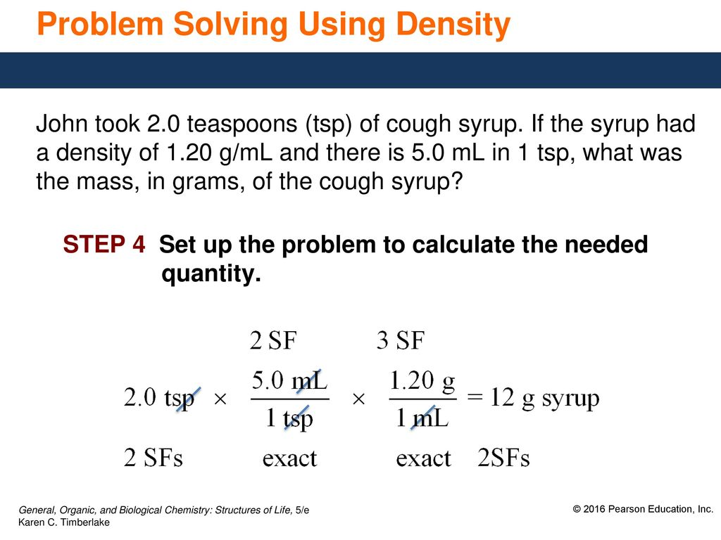 solving density problems in chemistry