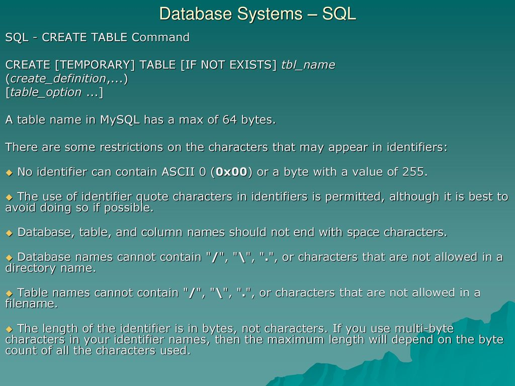 Database Systems Sql Sql Select Aggregation Functions Ppt Download