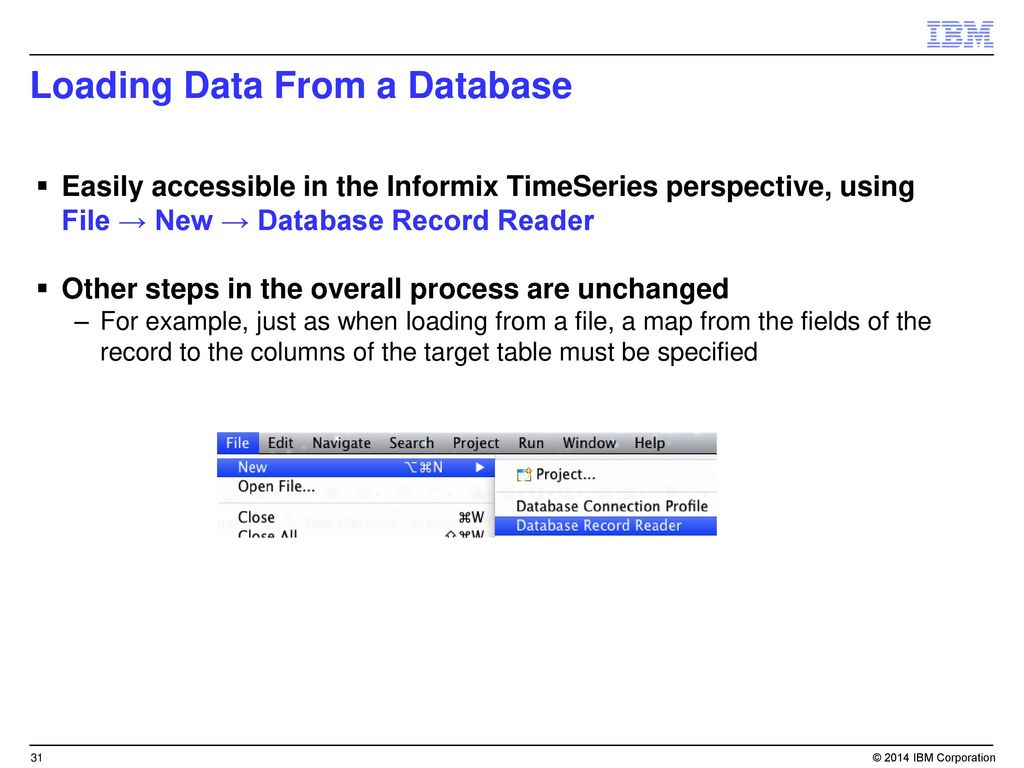 Smart Data/TimeSeries in Informix ppt download