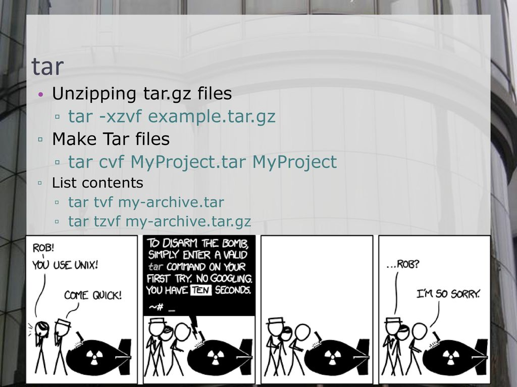 How To Create A Gunzip File In Linux How to create targz