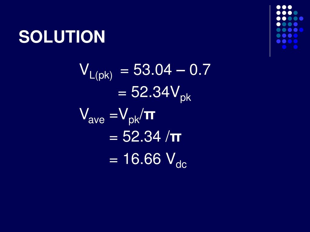 Negative Half Wave Rectifiers - ppt download