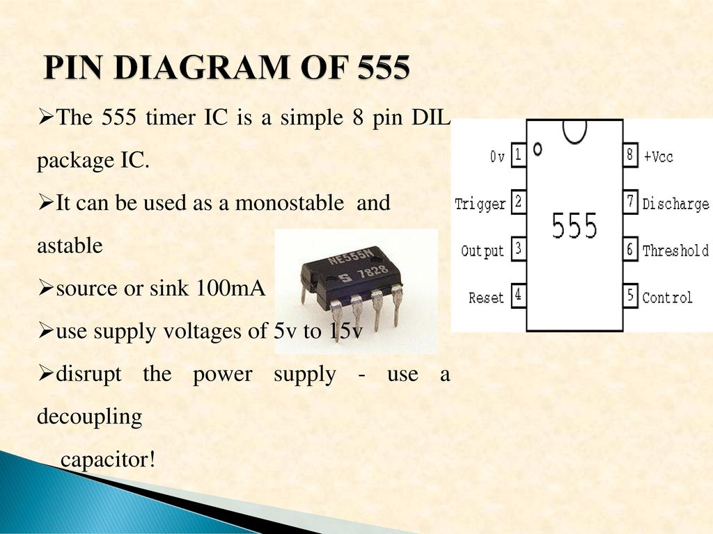 Low Voltage Dc Tohigher Up 6 Volt To 10 Using 555 Timer Circuits Also Wiring Diagram On 8 Pin Ic Is An Integrated Circuit Chip Implementing A Variety 7